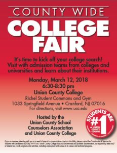 county wide college fair union county college
